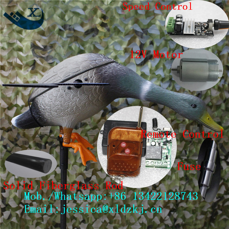 ФОТО Mallard Drake spinning wing motorized hunting duck decoy with Remote control