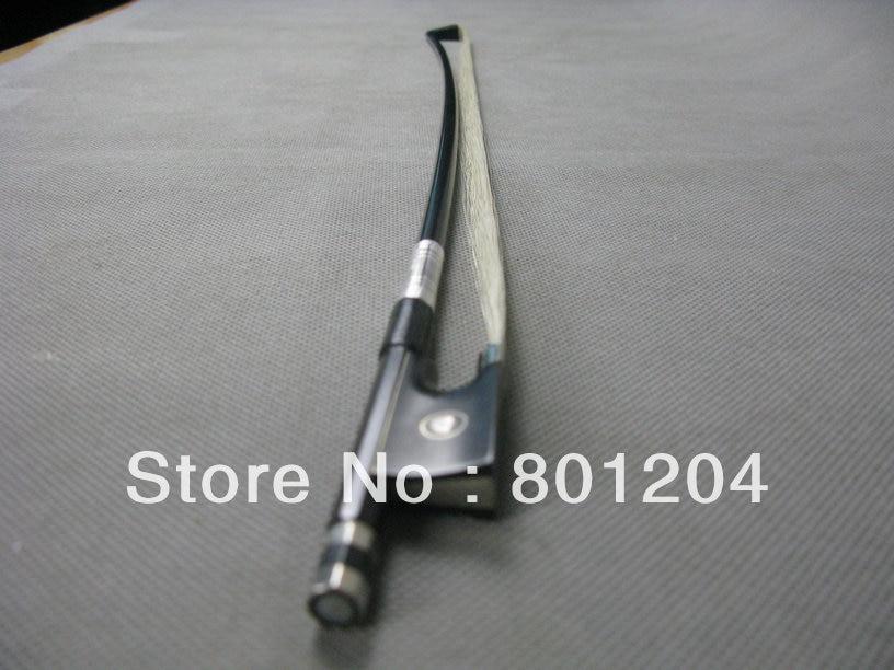 ФОТО 2pcs Black Carbon fiber violin bow 4/4 ,beautiful decoration ,white Horsehair