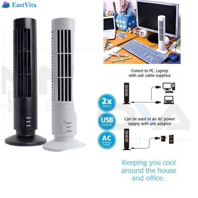 Eastvita On Dropshipping Portable Usb Vertical Bladeless Fan Mini Air Condition Desk Cooling