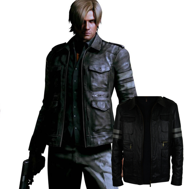 Resident Evil Biochemical crisis Leon Lyon fur coat jacket