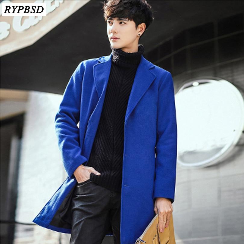 8 Colori Nuovo 2019 Mens Cappotto Di Lana Coreano Moda Inverno Cappotto Lungo Cappotto Di Lana Giacca Di Cachemire Monopetto Uomini Cappotto Fabbricazione Abile