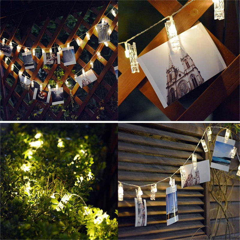 Wedding 3xAA Battery Powered 3Meter 20LED 4Meter 40LED Clip String Lights Indoor Outdoor Decoration Rope For Party