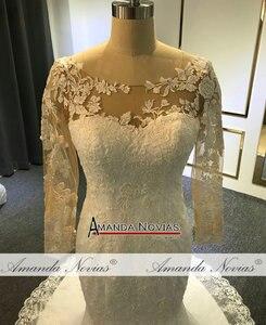 Image 3 - Vestido de noiva simples laço sereia vestido de casamento 2019