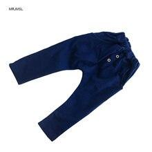 02d34219c73ec MRJMSL Enfants Printemps Automne Vêtements Bébé Garçons pantalon enfants  harem pantalon pour les filles denim jeans pantalon 201.