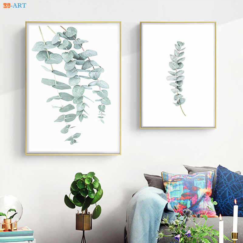 Australia Eucalyptus Plant Leaf Print Poster Botanical Wall Art Minimalist Canvas Painting Wall Pictures Living Room Home Decor