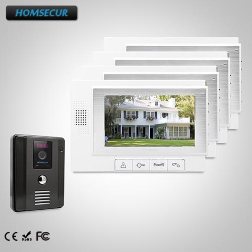 HOMSECUR 7 Wired Video&Audio Home Intercom+Dual-way Intercom for Apartment TC011-B + TM702-W