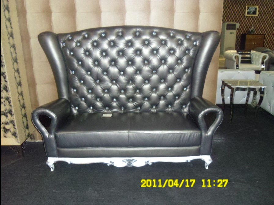 2 seater love chair covers grey cow genuine real leather sofa set living room home furniture couch chesterfield seat with crystal button