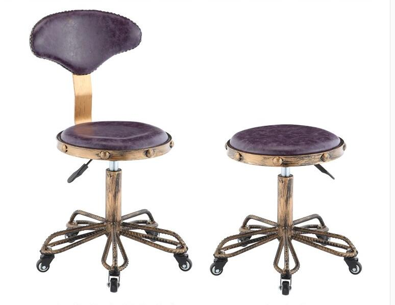 Hairdressing big stool. Beauty chair. Master stool. Nail embroidery stool. the bar chair hairdressing pulley stool swivel chair master chair technician chair