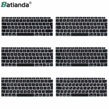 ЕС введите русский французский PT Испания итальянская английская модель для Macbook Новый Air 13 с retina & Touch ID A1932 2018 крышка клавиатуры