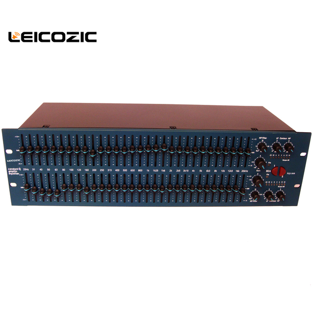 US $145 0 |Leicozic FCS 966 Opal Graphic Equaliser EQ Constant Q Dual  Equalizer 31 band EQ Stereo Graphic EQ Pro audio system-in Stage Audio from