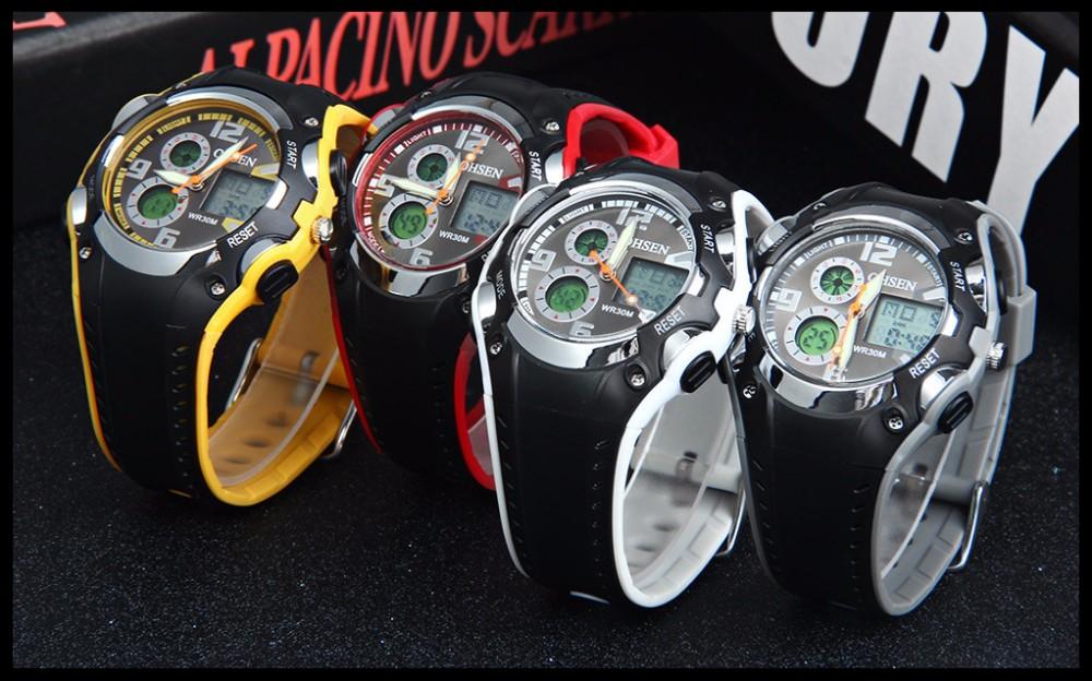 Original Ohsen Brand Fashion Sports Men's Watches 30M Waterproof Rubber Black Rubber Band Digital Sport Wristwatch for Men Gift (39)