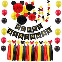 Happy Birthday home decoration accessories mickey mouse theme decoration set
