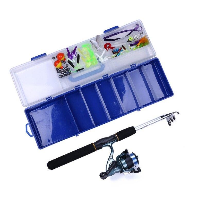 150 pièces/ensemble ensemble de canne à pêche roue rotative tige rétractable appât souple crochet Portable accessoires de pêche en plein air nouveau - 2
