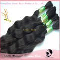100% Natural Virgin No Attachment(Bulk Hair) Wave  Bulk hair 100g/lot Natural Color, 16 -22inch, Free Shipping Hair clips