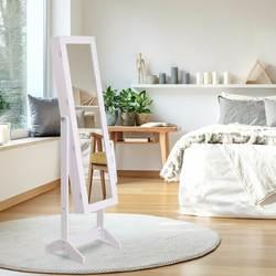 Giantex ювелирный шкаф с зеркалами Armoire запираемый органайзер для хранения w/огни Рождественская мебель для дома HW54671