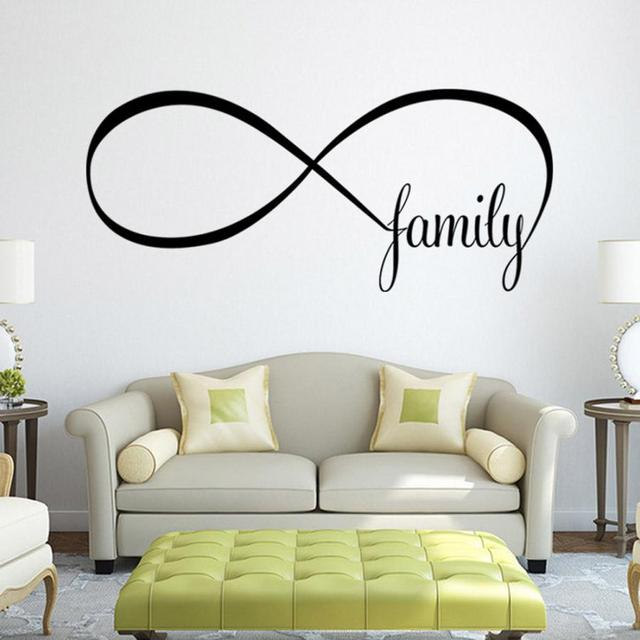 Personality 22 50cm Bedroom Wall Stickers Decor Infinity Symbol Word Family 420
