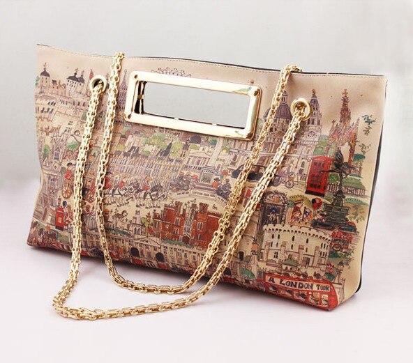 43c303b11e1 Wholesale Handbags Women Western Style London Handwriting Printing Evening  Should Bags o-D589
