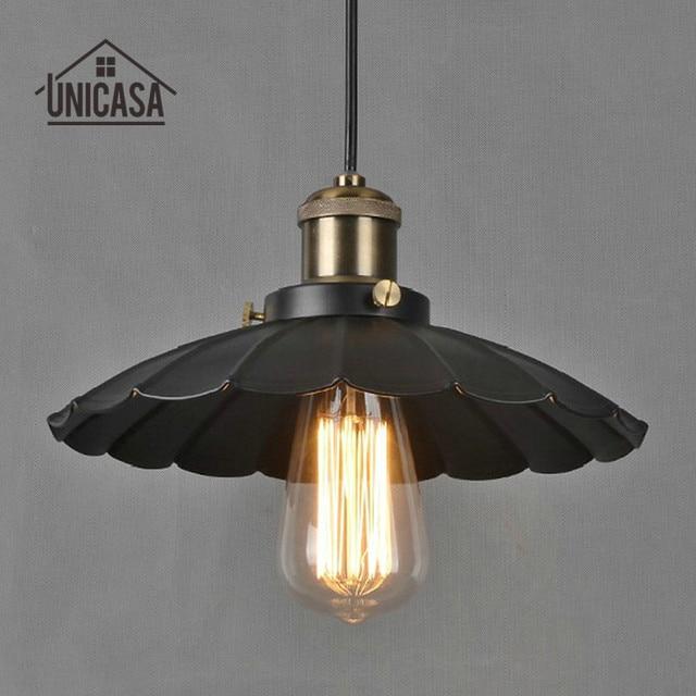 Modern Pendant Lights Antique Wrought Iron Lighting Fixtures Vintage Black Metal Kitchen Island Office Living