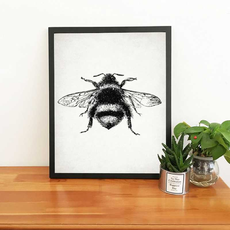 Insect Canvas Art Colorful Canvas Art Bee Wall Art Bumblebee Print Children/'s Room Art Animal Art Print Colorful Bumblebee