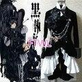 [FTWL] anime Negro mayordomo Kuroshitsuji Ciel Phantomhive Circo Traje Negro Traje cosplay por encargo