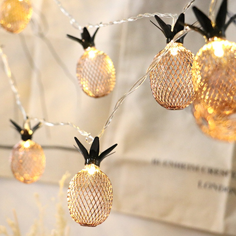 Hot Sale 1m Retro Pineapple Led Fruit String Light Lantern Flashing
