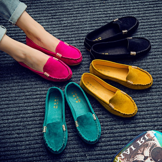 Woman Flats 2019 Pointed Toe Slip on Shoes Woman Ballet Flats PU Leather Loafers Boat Shoes Weave Ladies Shoes Zapatos Mujer