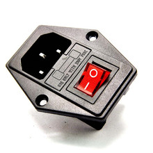 High quality 10A 250V Inlet Module Plug Fuse Switch Male Power Socket 3 Pin IEC320 C14 10Pcs стоимость