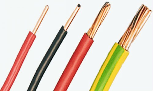 pvc wire electric copper cable in electrical wires from home