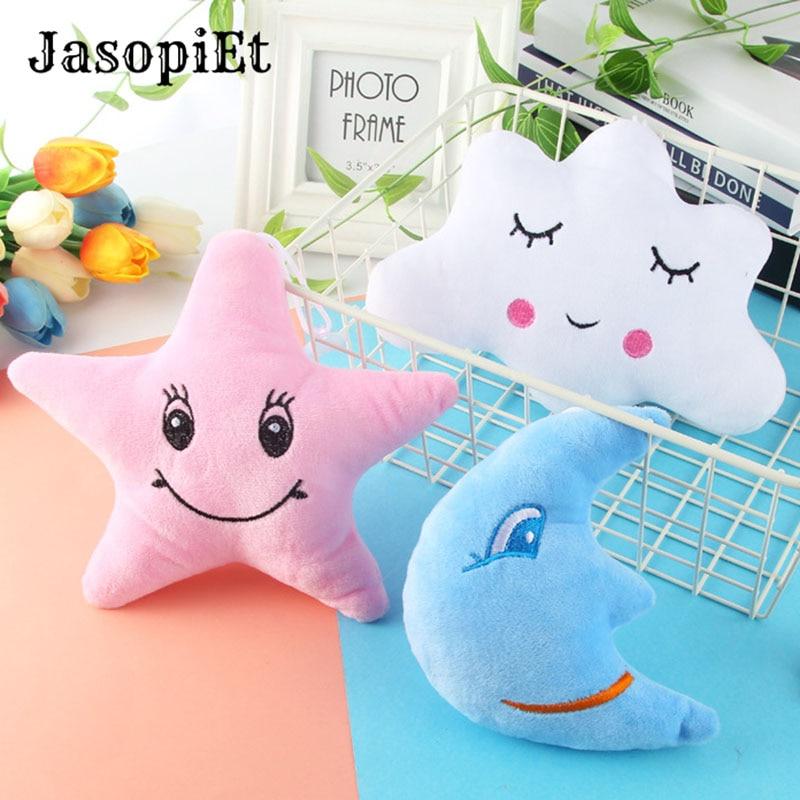 JasopiEt Cute Plush Cloud Doll Moon Star Plush Toy Mini Size Plush Pillow For Kids Gifts Toys soccer balls size 4