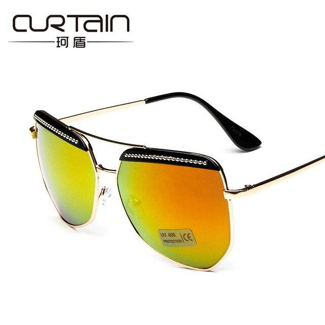 Большой рамка женщины солнцезащитные очки Топ Стиль Brand Design Vintage Солнцезащитные очки Мода Дамы Cateye Солнцезащитные Очки тень uv400 очки