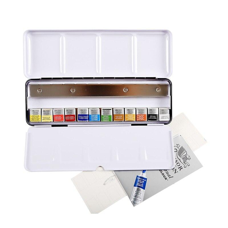 Winsor Nowton 12 24 Senior painter Watercolor Paint artist special Professional Pigment Porcelain Enamel Packing made