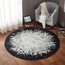 INS, скандинавский геометрический круглый ковер, нескользящий коврик для пола, внутренний входной коврик, коврик для стула, коврик для йоги, коврик для гостиной, спальни