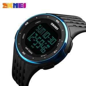 SKMEI 1219 Men Digital Watch LED Display Waterproof Male Wristwatches Chronograph Calendar Alarm Sport Watches Relogio Masculino