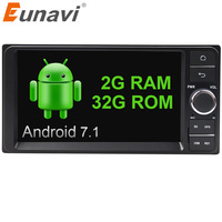 Eunavi Quad Core 2 Din Android 7 1 2G RAM Car Dvd Player For Toyota Hilux
