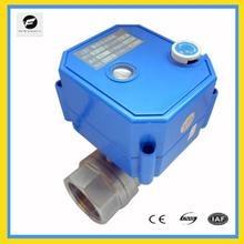 Actuador eléctrico de CWX 25S con control de motor, válvula de bola motorizada, puerto completo de acero inoxidable con función de cancelación manual, 12/24v 220v