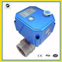 Vanne à bille motorisée CWX 25S, actionneur électrique, robinet à bille, port complet, en acier inoxydable, avec fonction de commande manuelle, 12/24v, 220v