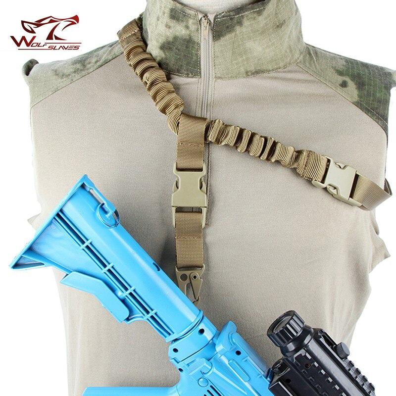Регулируемый военный тактический пистолет слинг одноточечный быстросъемный Банджи винтовка плечевой ремень Охота Starp Страйкбол M4 AR15