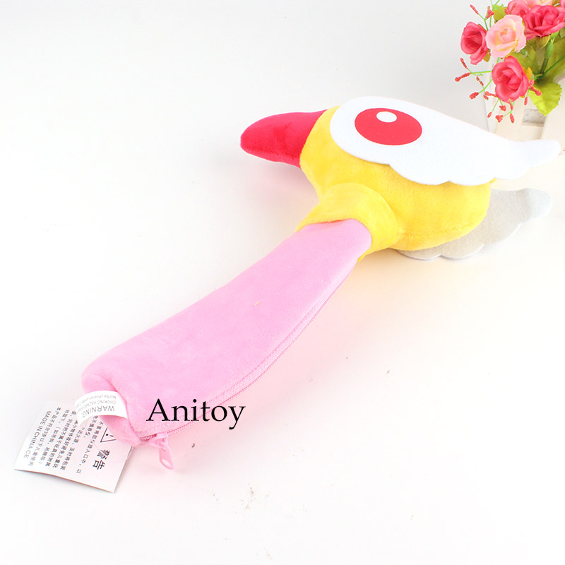 34cm Cardcaptor Sakura Plush Doll Toys Kinomoto Sakura Magic Star Wand Plush Pencil Case Kawaii For Girls Pen Bag Movies & Tv Dolls & Stuffed Toys