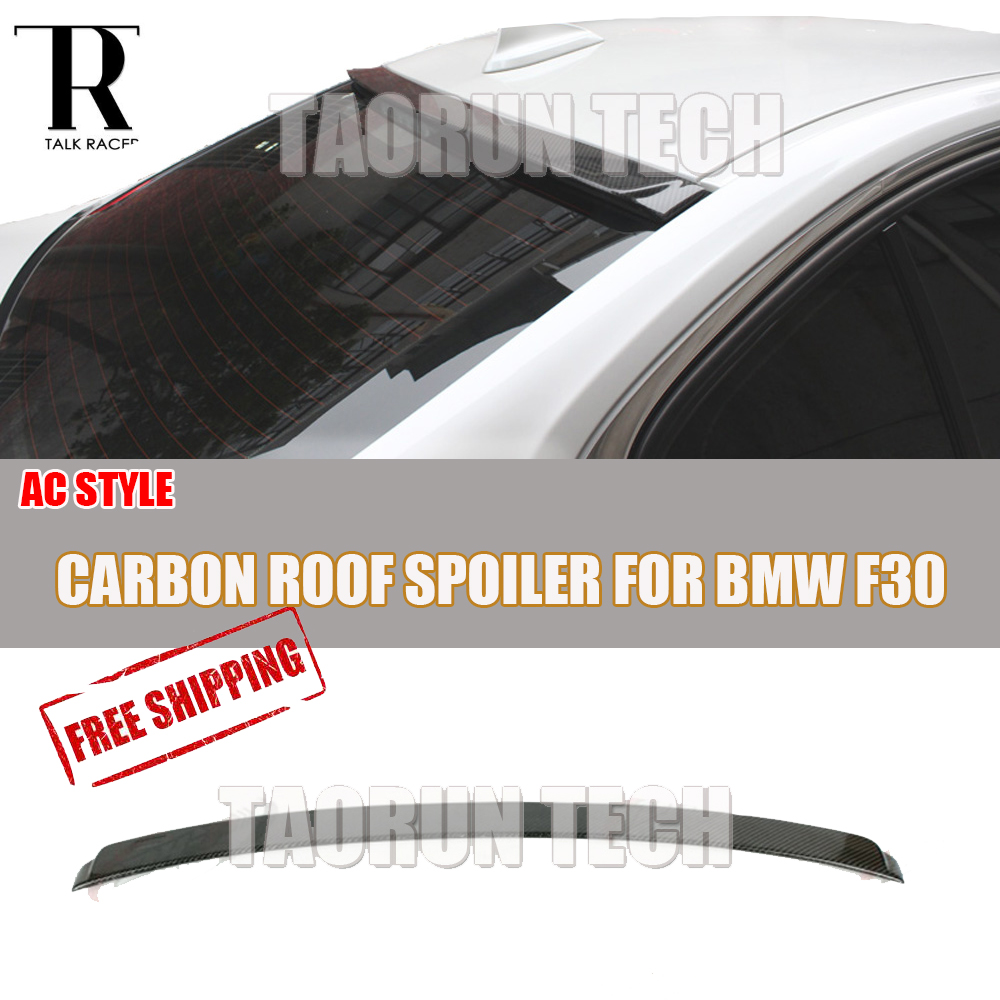 F30 AC Style Carbon Fiber Rear Roof Window Wing Spoiler for BMW F30 320i 328i 330i 335i 320d 325d 328d 2012 - 2016