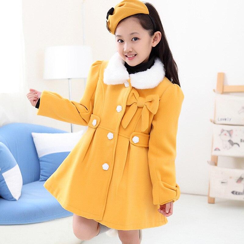 Online Shop Children Winter Outwear Fashion 2014 Cute Big Girls