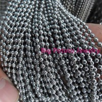 1 5 2 2 4 3 2mm Wide Wholesale 50 100pcs Silver Round Ball Chain Stainless