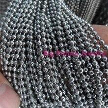 1.5/2/2.4/3.2mm de Ancho Por Mayor 50/100 unids de Plata Cadena de la Bola Redonda de Acero Inoxidable IDY Encontrar Pendiente de la joyería de Los Hombres 16-40 pulgadas
