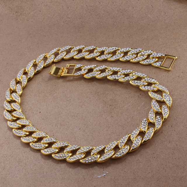 Iced Out Cuban Rhinestone Thick Necklace 4