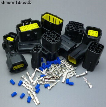 shhworldsea 30sets 2/3/4/6/8//12Pin 1.8mm male and female Auto connector plug,1.8mm car waterproof electrical connector For car