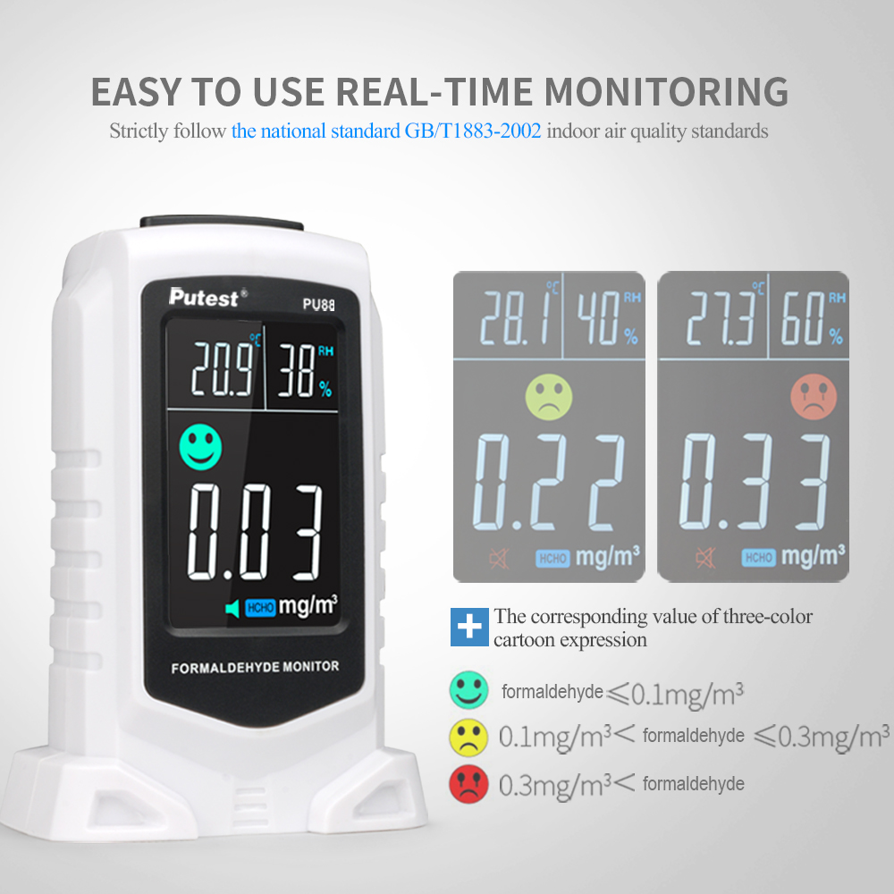Digital Gas Analyzers PU88 Formaldehyde Detector Meter Carbon Dioxide Monitor Thermometer Hygrometer Humidity Gas TesterDigital Gas Analyzers PU88 Formaldehyde Detector Meter Carbon Dioxide Monitor Thermometer Hygrometer Humidity Gas Tester