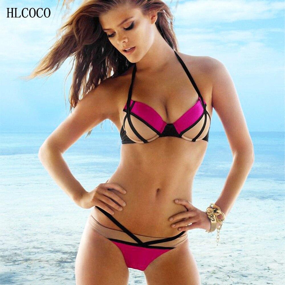 banded halter bikini Beattie