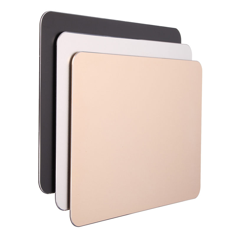 Liga de alumínio magro metal jogo mouse gamer pad computador grande mouse esteira computador portátil gaming mouse pad para apple mackbook para dota