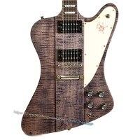 (Ön-Sipariş) 10 S Özel Mağazalar Limited Edition Slash Firebird Elektrik Gitar Trans Siyah Yaşlı