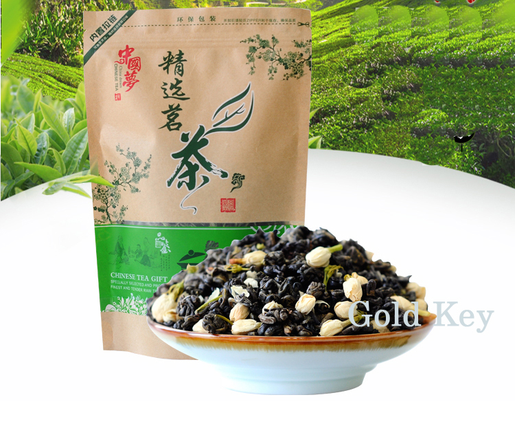 250g Jasmine Flower Tea,Chinese Flower Green Tea Jasmine ,Organic Jasmine Flower Green Tea ,Keep Beauty 250g jasmine flower tea green tea jasmine flavor biluochun tea jasmine bud free shipping