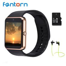 GT08 Fentorn Bluetooth Reloj Teléfono Inteligente Apoyo TF Tarjeta SIM Cámara Smartwatch DZ09 Reloj Inteligente Para Android IOS PK GD19